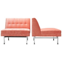 Pink George Nelson Modular Seating Series Chair by Herman Miller