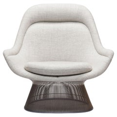 Warren Platner Wire Series Easy Chair in Knoll Fabric by Knoll