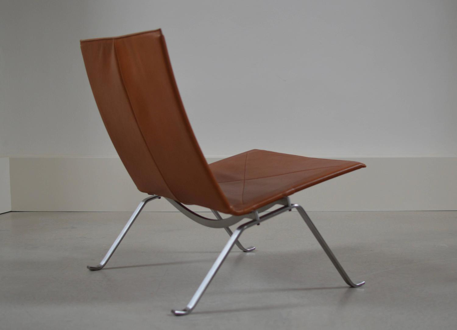 Poul Kjaerholm Walnut PK22 Lounge Chair Fritz Hansen For Sale At 1stdibs