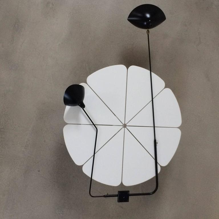 serge mouille 39 applique 2 bras pivotants 39 rotating sconce for sale at 1stdibs. Black Bedroom Furniture Sets. Home Design Ideas