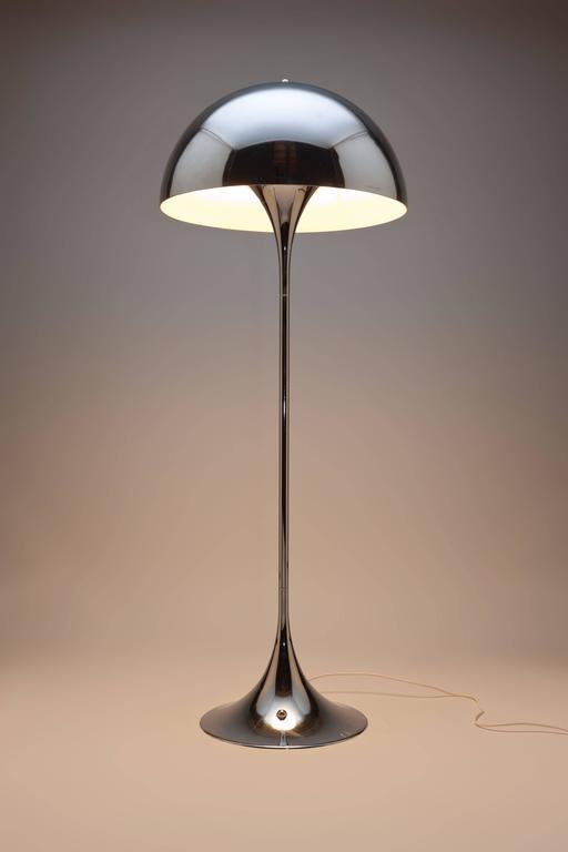 rare verner panton chrome panthella floor lamp by louis poulsen for sale at 1stdibs. Black Bedroom Furniture Sets. Home Design Ideas
