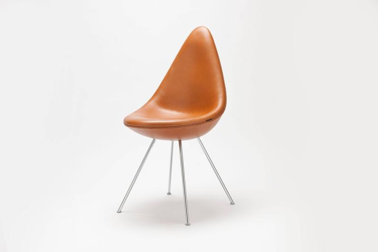 Arne jacobsen drop chair by fritz hansen denmark for sale for Arne jacobsen drop chair