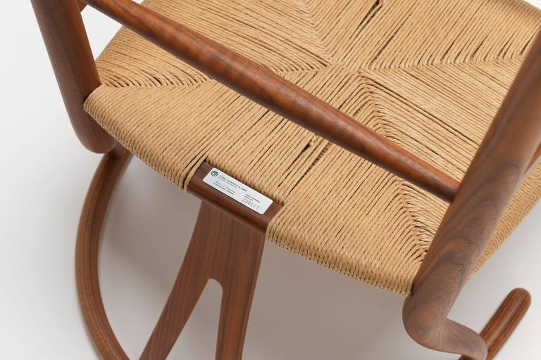 Hans Wegner Walnut Ch24 Wishbone Chair By Carl Hansen At