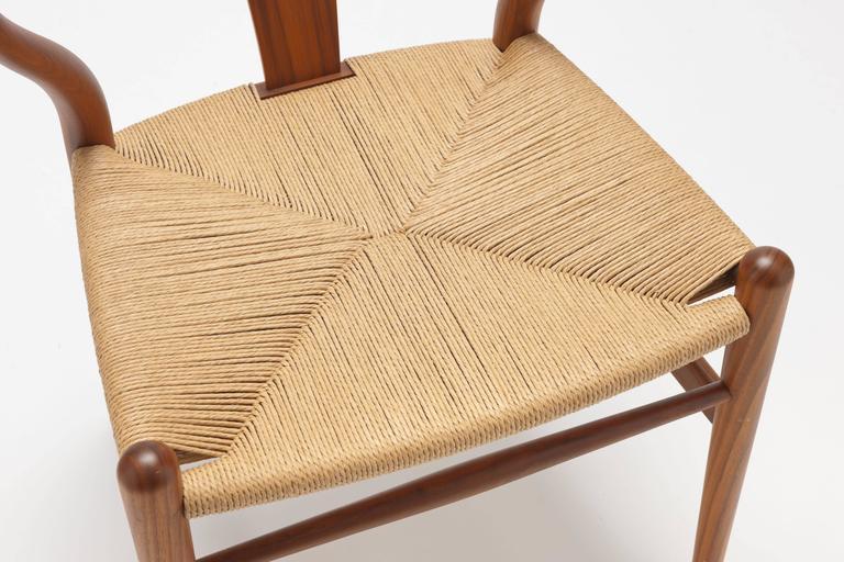 Hans Wegner Walnut Ch24 Wishbone Chair By Carl Hansen At