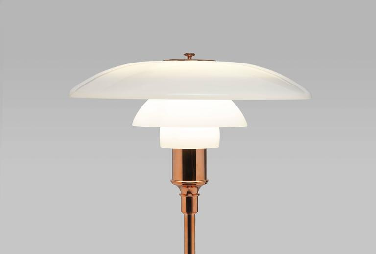 Poul Henningsen Limited Edition PH 3½-2½ Copper and Glass Floor Lamp In Good Condition For Sale In Utrecht, NL