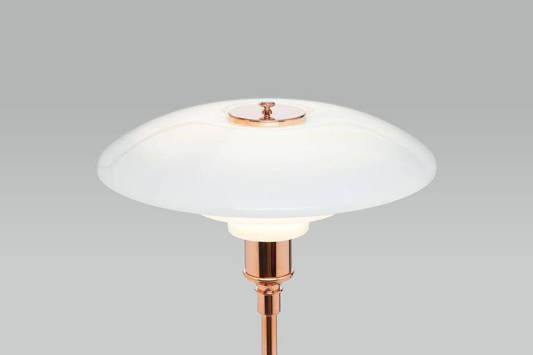 Contemporary Poul Henningsen Limited Edition PH 3½-2½ Copper and Glass Floor Lamp For Sale