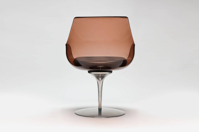 American Lucite 'Champagne' Chair by Estelle & Erwin Laverne For Sale