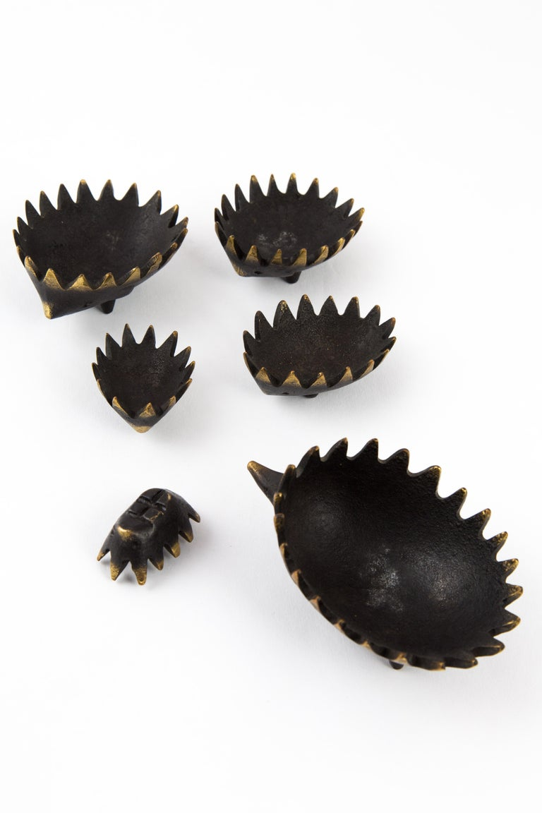 Hedgehog with Her Kids Walter Bosse Blackened Brass with Hertha Baller For Sale 6