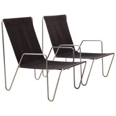 Pair of Bachelor Chairs by Verner Panton for Fritz Hansen, 50 Years Old