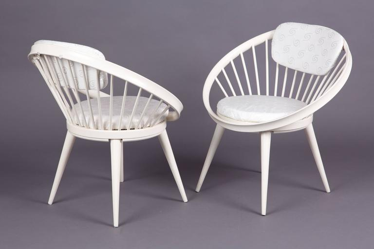 Set of Two Circle Chairs of Ekström at 1stdibs