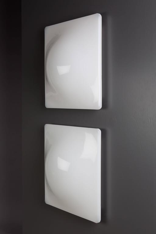 Pair of iguzzini ip40 wall light square for sale at 1stdibs mid century modern pair of iguzzini ip40 wall light square for sale aloadofball Image collections