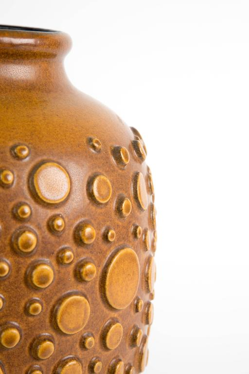 Mid-Century Modern HUGH BRUTALIST  polka dot vase ceramic For Sale