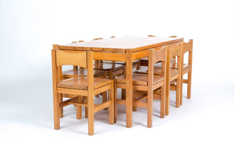 TAPIOVAARA  Hongisto dining set with eight chairs for Laukaan Puu Oy 8