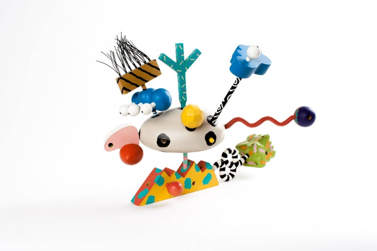Late 20th Century MEMPHIS ZOLO Wooden Toys designed by Byron Glaser and Sandra Higashi for Moma For Sale
