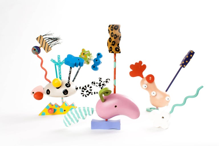 MEMPHIS ZOLO Wooden Toys designed by Byron Glaser and Sandra Higashi for Moma For Sale 1