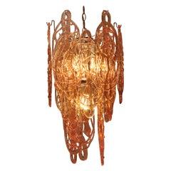HANDGEFERTIGTE MURANO Glas Maxxega Lampe mit 15 Glasteilen, 1960er Jahre