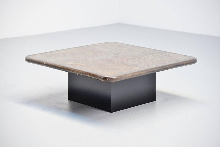 Very Nice One Off Square Shaped Coffee Table Designed And Made By Paul  Kingma, Holland