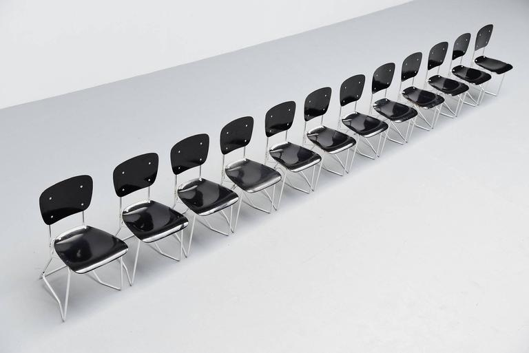 Armin Wirth Aluflex 12 Folding Chairs Switzerland, 1951 3