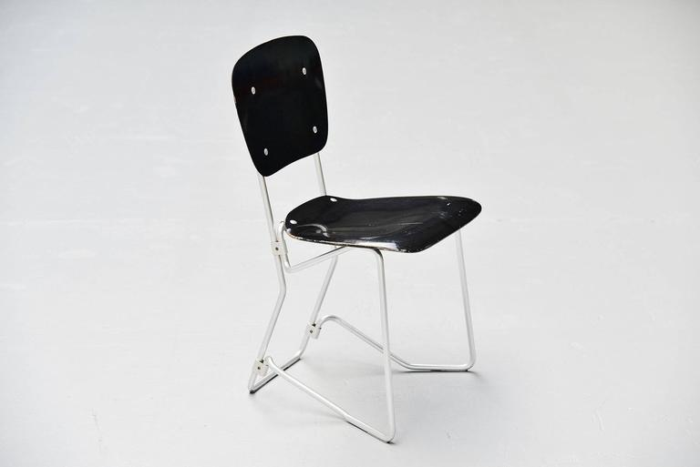 Armin Wirth Aluflex 12 Folding Chairs Switzerland, 1951 7