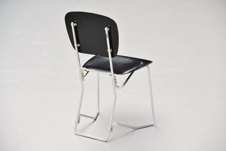 Armin Wirth Aluflex 12 Folding Chairs Switzerland, 1951 9