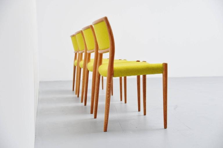 Niels Moller Model 80 Chairs in Oak, Denmark, 1968 3