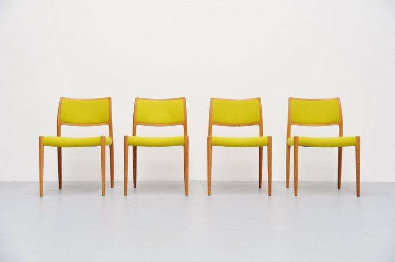 Niels Moller Model 80 Chairs in Oak, Denmark, 1968 2