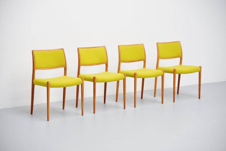 Niels Moller Model 80 Chairs in Oak, Denmark, 1968 5