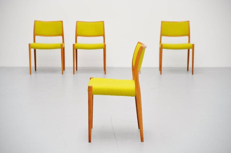 Niels Moller Model 80 Chairs in Oak, Denmark, 1968 7