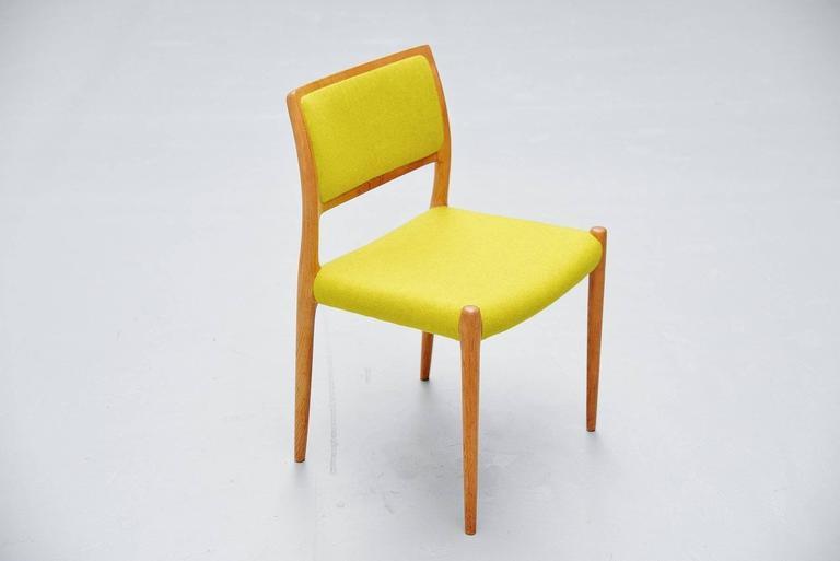 Niels Moller Model 80 Chairs in Oak, Denmark, 1968 8