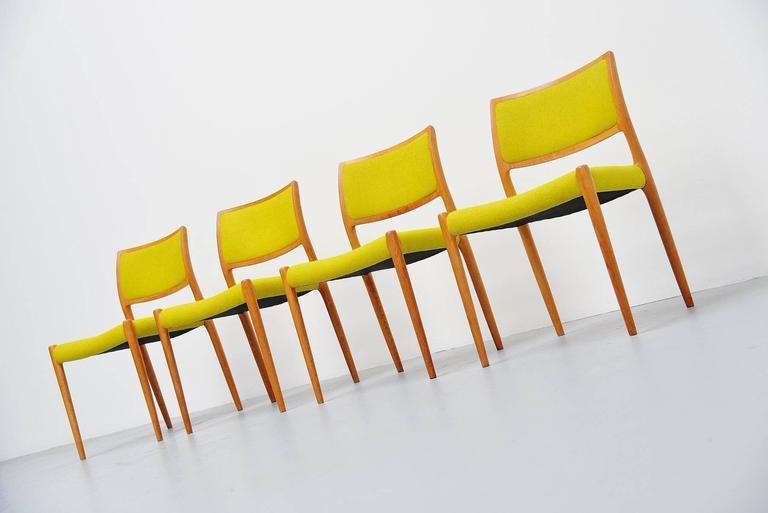 Niels Moller Model 80 Chairs in Oak, Denmark, 1968 6