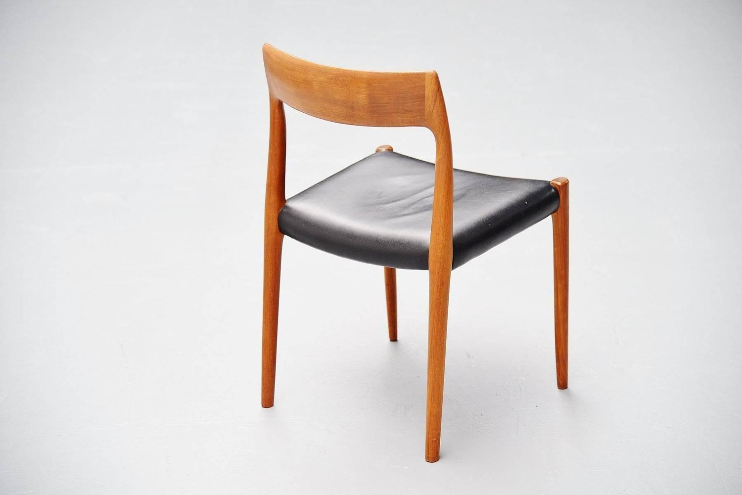 Niels Moller Model 77 Dining Chairs In Teak Denmark 1959 At 1stdibs