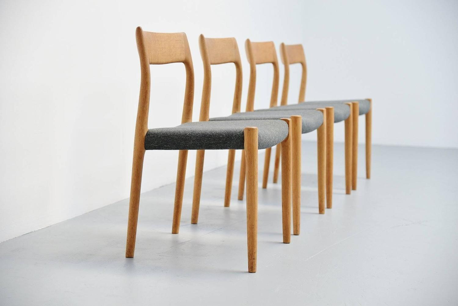 Niels Moller Model 77 Chairs In Oak Denmark 1959 For Sale At 1stdibs