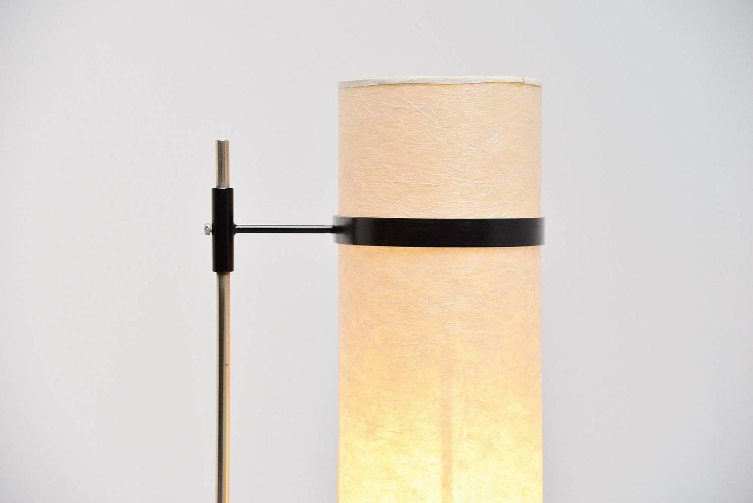 dutch modernist floor lamp with rice paper shade 1960 at 1stdibs. Black Bedroom Furniture Sets. Home Design Ideas