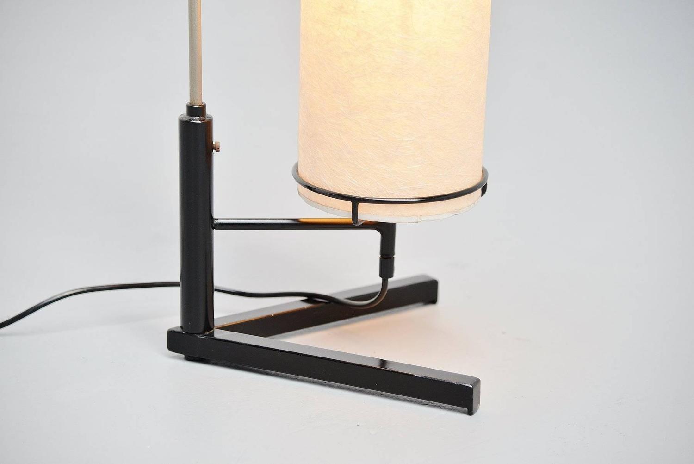 dutch modernist floor lamp with rice paper shade 1960 at 1stdibs. Black Bedroom Furniture Sets. Home Design Ideas