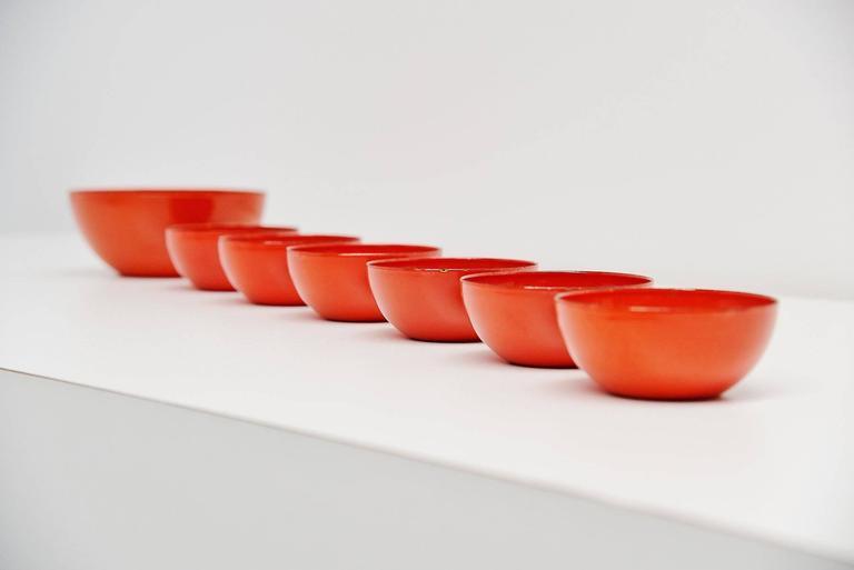 Arabia Finel Bowl Set by Kaj Franck, Finland, 1960 In Good Condition For Sale In Roosendaal, Noord Brabant