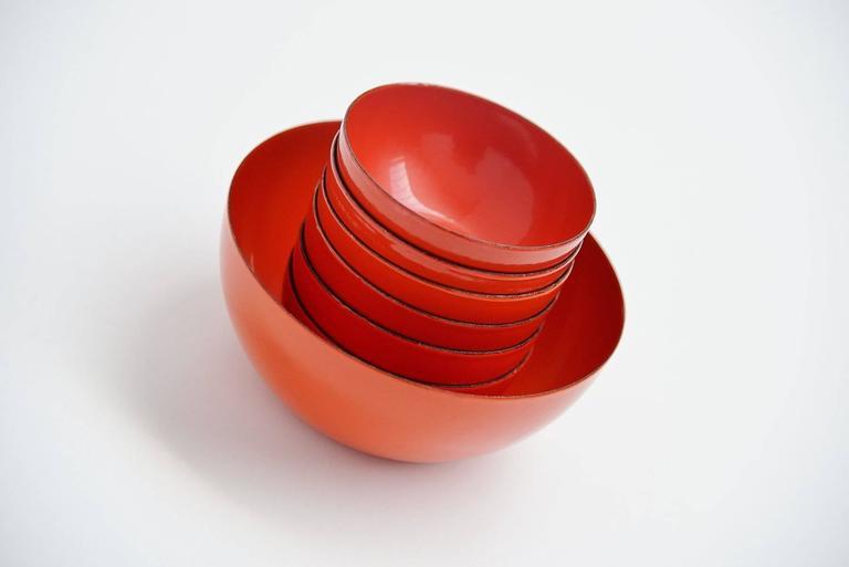 Mid-20th Century Arabia Finel Bowl Set by Kaj Franck, Finland, 1960 For Sale