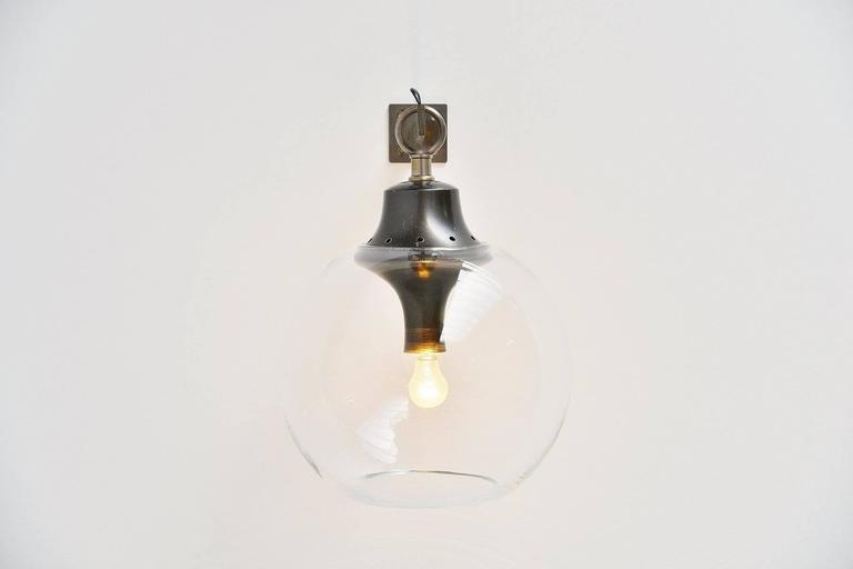 Luigi Caccia Dominioni for Azucena Boccia Wall Lamp, 1969 In Good Condition For Sale In Roosendaal, Noord Brabant