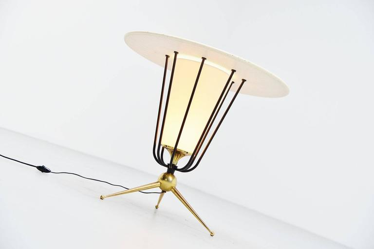 Mid-Century Modern Pierre Guariche Attributed Floor Lamp, France, 1950 For Sale