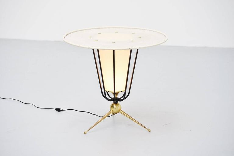 Lacquered Pierre Guariche Attributed Floor Lamp, France, 1950 For Sale