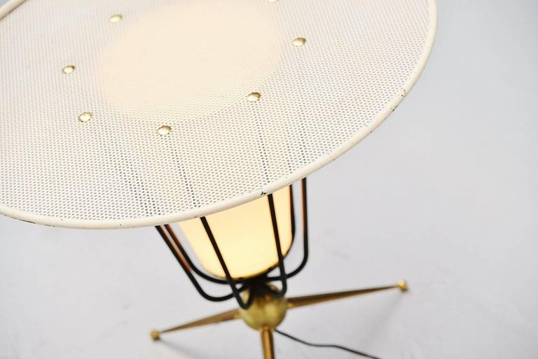 Brass Pierre Guariche Attributed Floor Lamp, France, 1950 For Sale