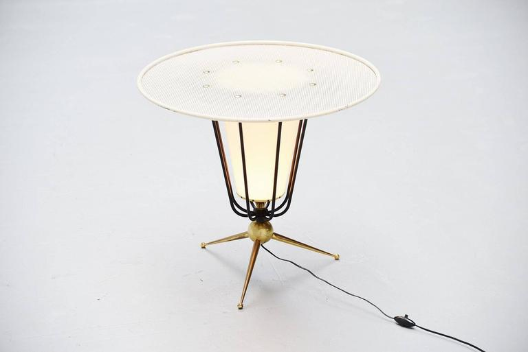 Mid-20th Century Pierre Guariche Attributed Floor Lamp, France, 1950 For Sale