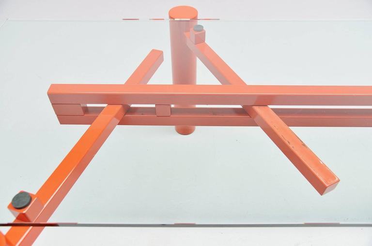 Glass Christophe Gevers Working Table for be.classics, 2001 For Sale