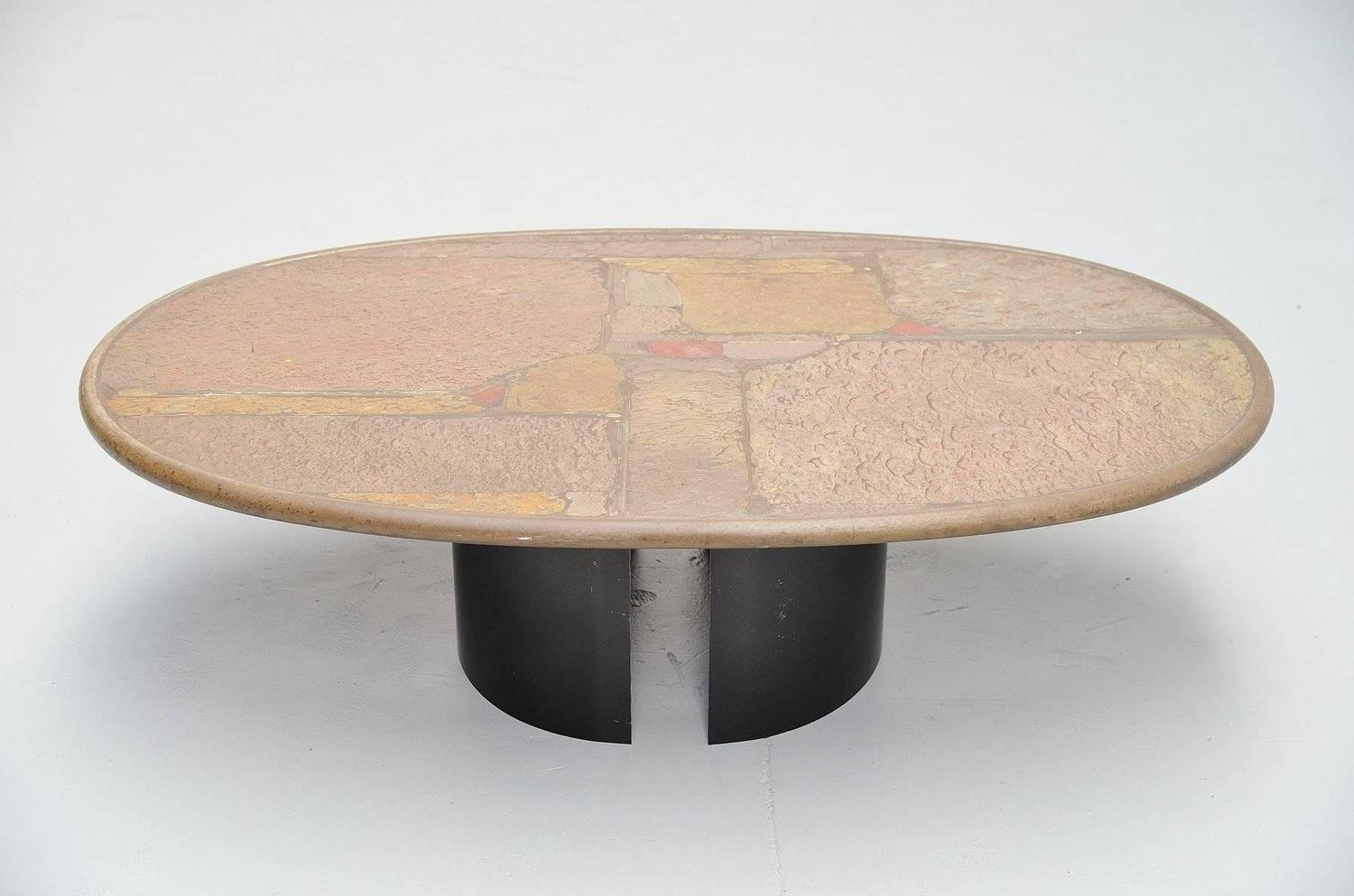 Paul kingma unique oval coffee table holland 1993 at 1stdibs for Unusual cocktail tables
