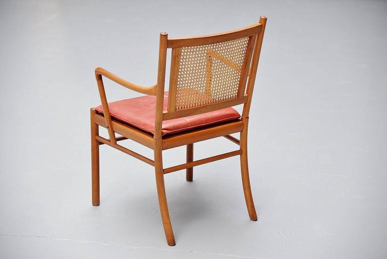 Ole Wanscher Colonial Chairs Set, Poul Jeppesens, Denmark, 1960 For Sale 2