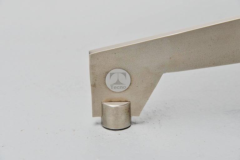 Metal Osvaldo Borsani Adjustable Table Tecno, Italy, 1960 For Sale