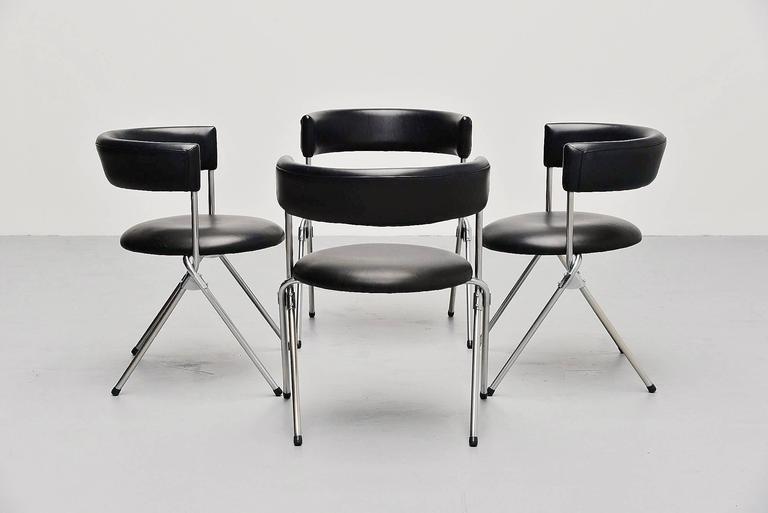 Werner Blaser Dining Chairs SZ09 't Spectrum, Holland, 1960 9