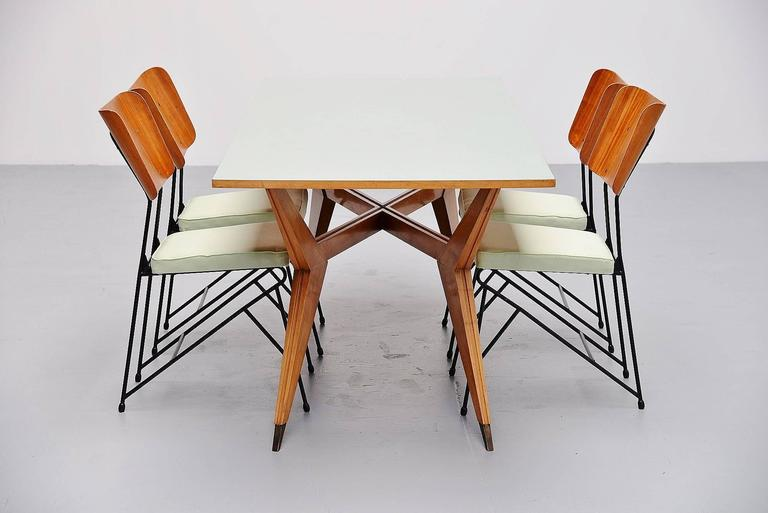 Brass Ico Parisi Dining Table Pre MIM Production, 1950 For Sale