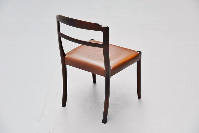 Ole Wanscher Mahogany Dining Chairs AJ Iversen, Denmark, 1965 7