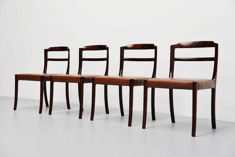 Ole Wanscher Mahogany Dining Chairs AJ Iversen, Denmark, 1965 4