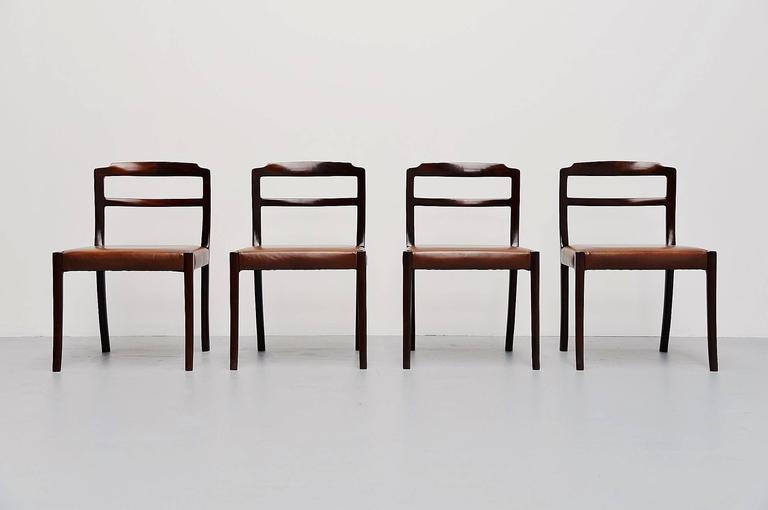 Ole Wanscher Mahogany Dining Chairs AJ Iversen, Denmark, 1965 2